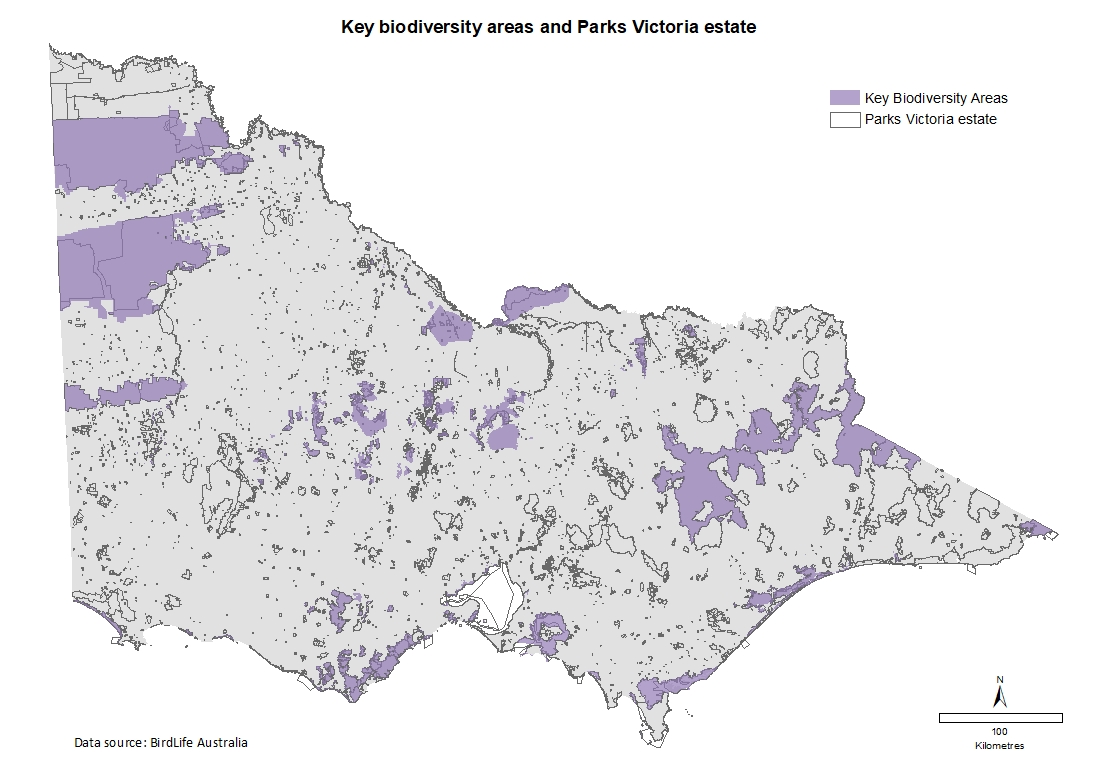 key biodiversity areas and parks victoria estate
