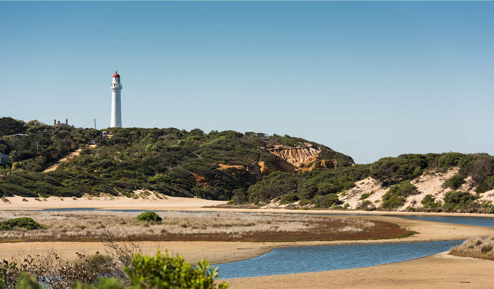 The famous Split Point Lighthouse at Airey's Inlet.