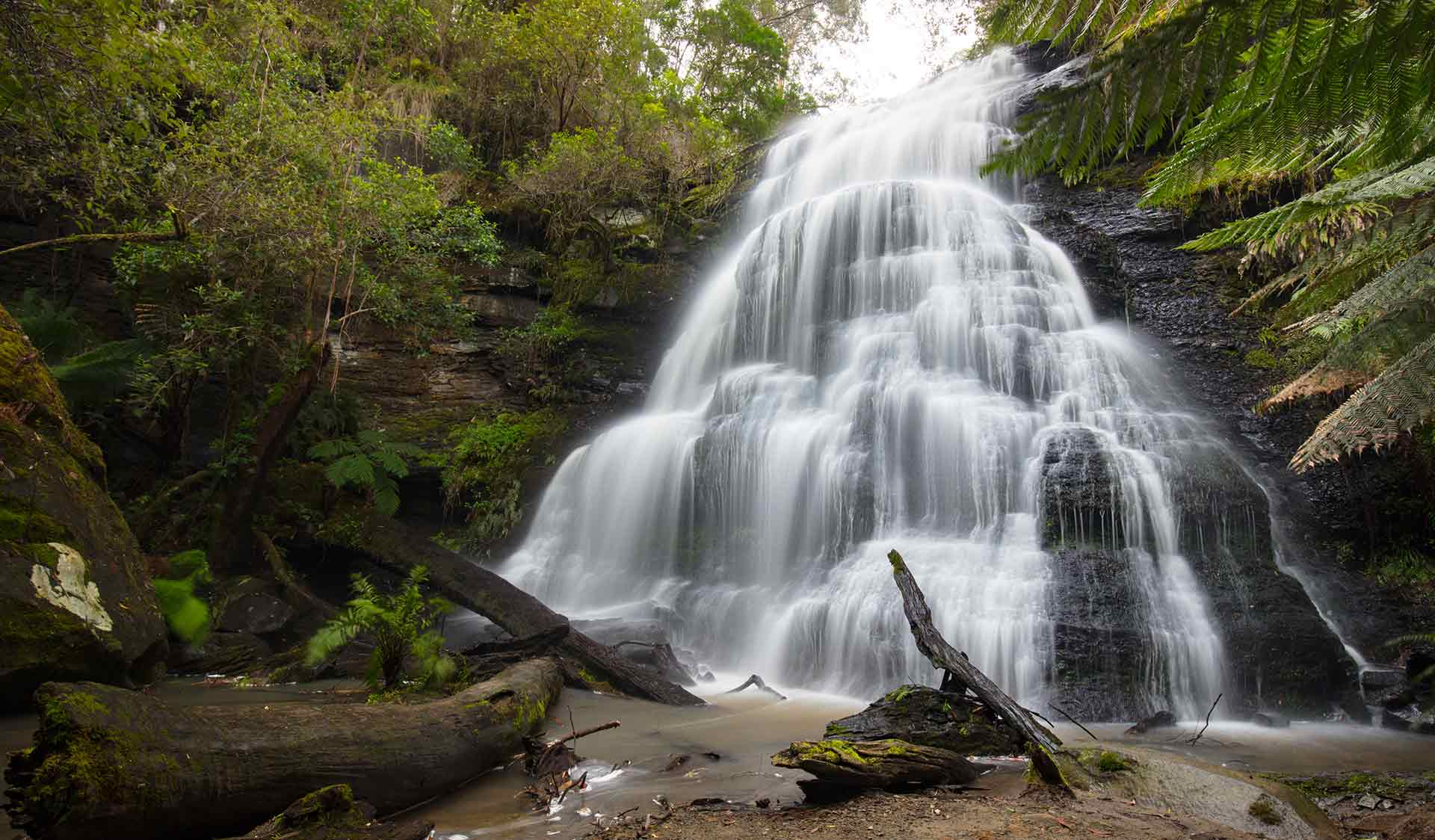Henderson Falls near Sheoak Picnic Area at Lorne in the Great Otway National Park