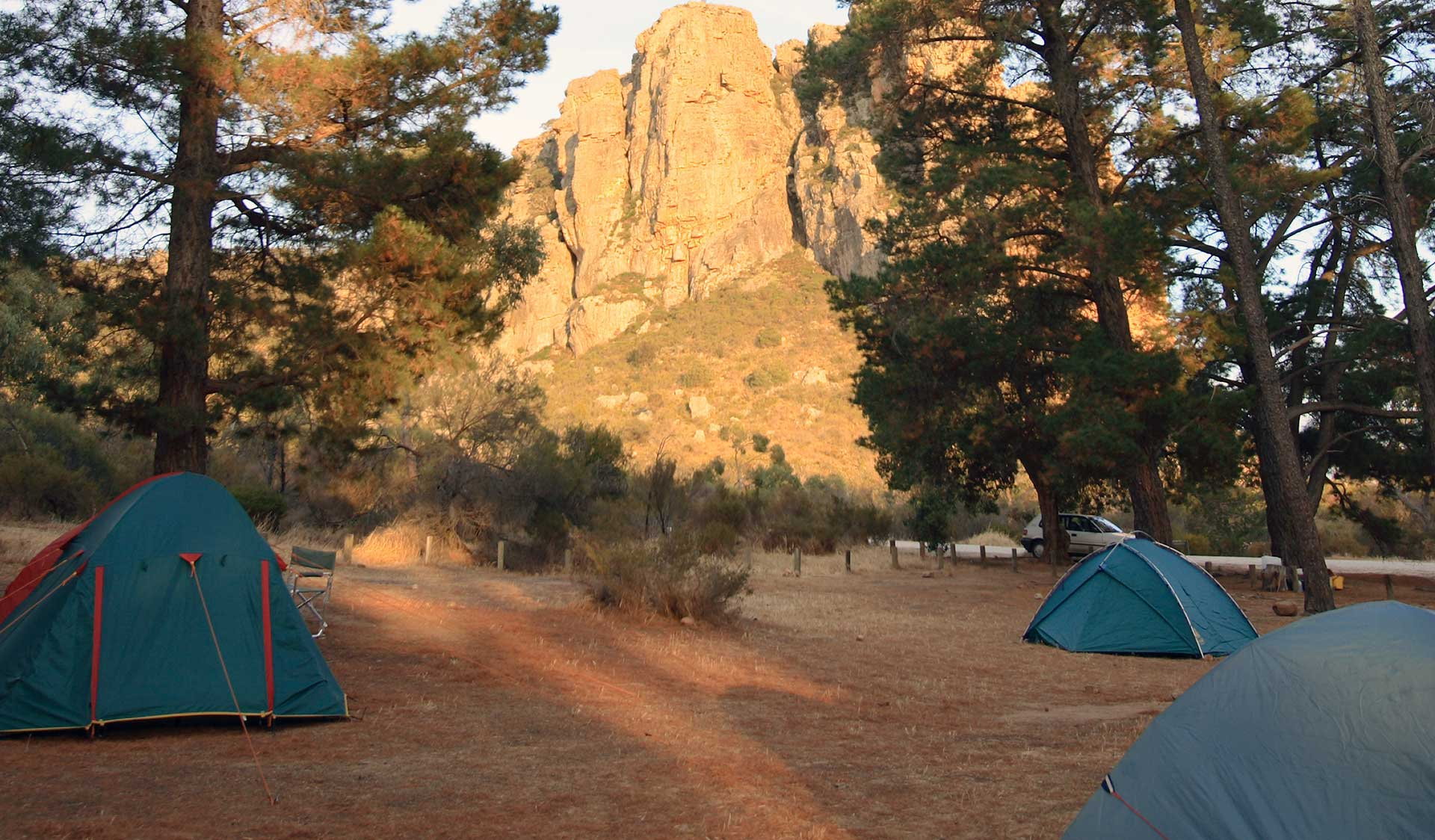 The campsite at Mount Arapiles