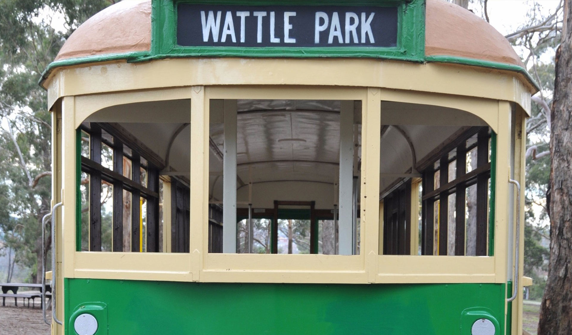 The Wattle Park Tram - a feature of the park.